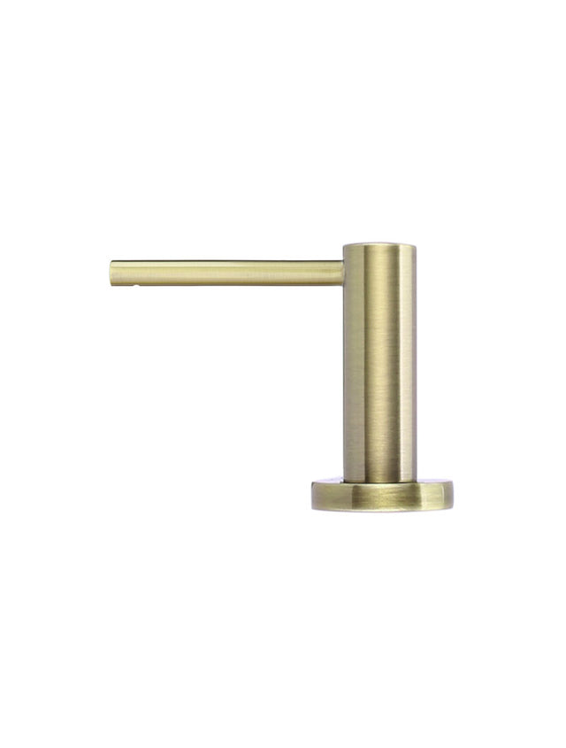 Meir Round Soap Dispenser - Tiger Bronze (SKU: MP09-BB) Image - 2