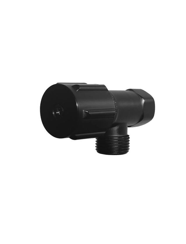 Meir Round Mini Stop Cistern Tap - Matte Black (SKU: MP11) Image - 1