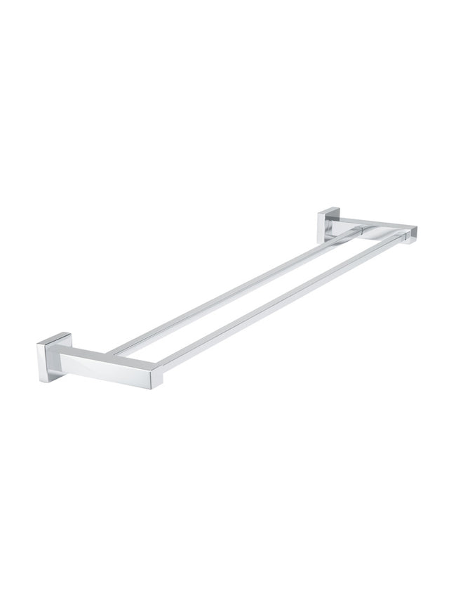 Meir Square Double Towel Rail 600mm - Polished Chrome (SKU: MR01-C) Image - 1
