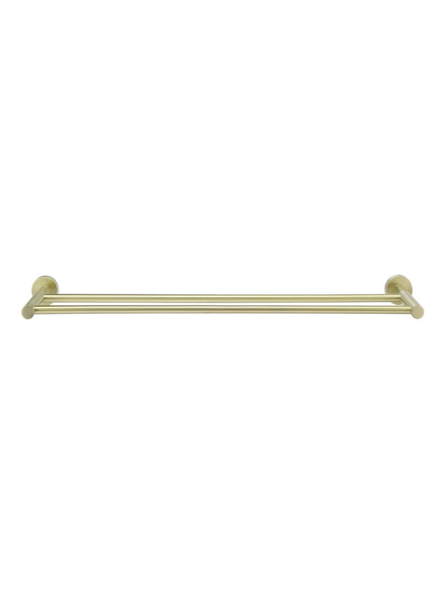 Meir Round Double Towel Rail 600mm Gold - Tiger Bronze Gold (SKU: MR01-R-BB) Image - 2