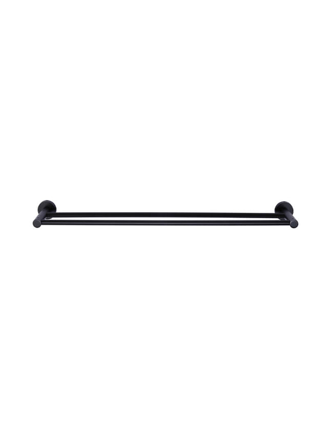 Meir Round Double Towel Rail 600mm - Matte Black (SKU: MR01-R) Image - 2