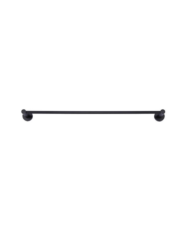 Meir Round Single Towel Rail - Matte Black (SKU: MR01-SR60) Image - 2