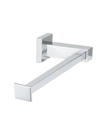 Square Toilet Roll Holder - Polished Chrome