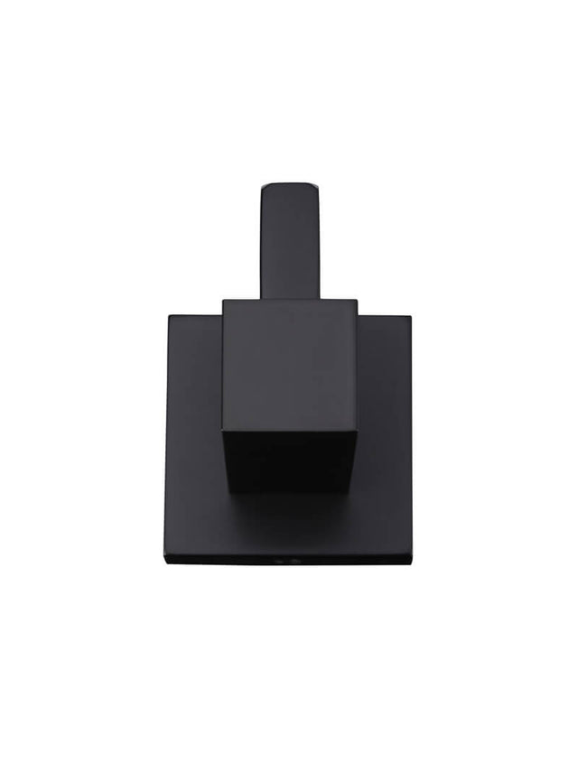 Meir Square Robe Hook - Matte Black (SKU: MR03) Image - 4
