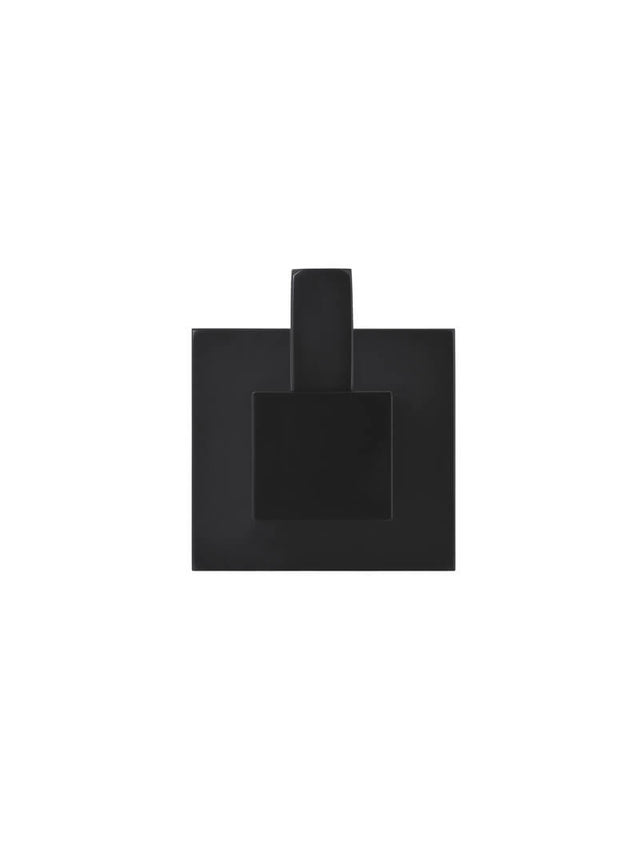 Meir Square Robe Hook - Matte Black (SKU: MR03) Image - 2