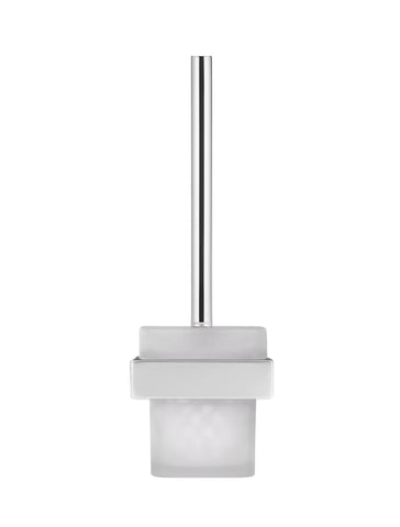 Square Toilet Brush & Holder - Polished Chrome