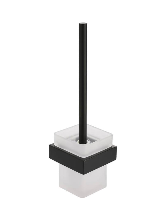Meir Square Toilet Brush & Holder - Matte Black (SKU: MTO01) Image - 1