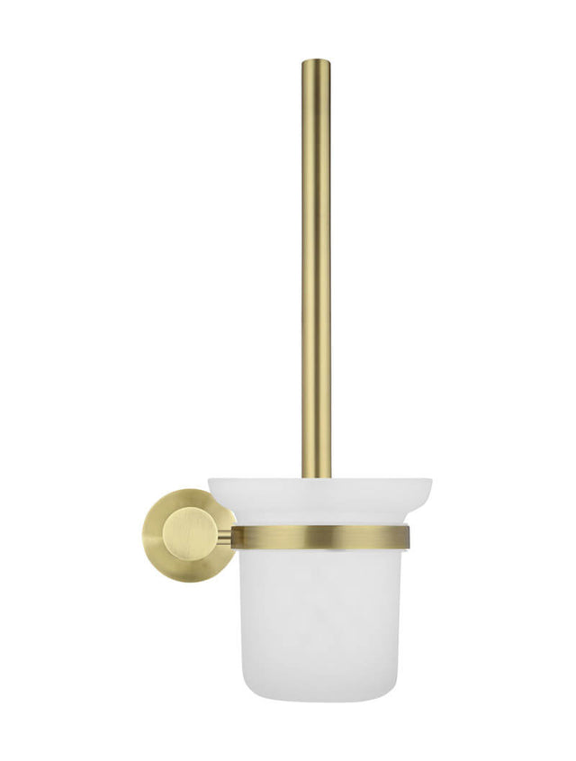 Meir Round Toilet Brush & Holder Gold - Tiger Bronze Gold (SKU: MTO01-R-BB) Image - 2