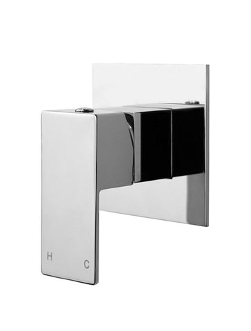Square Chrome Wall Mixer