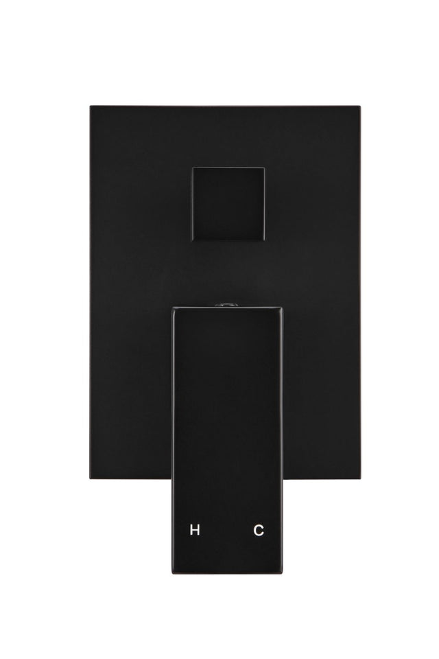 Meir Square Wall Mixer - Matte Black (SKU: MW02) Image - 2