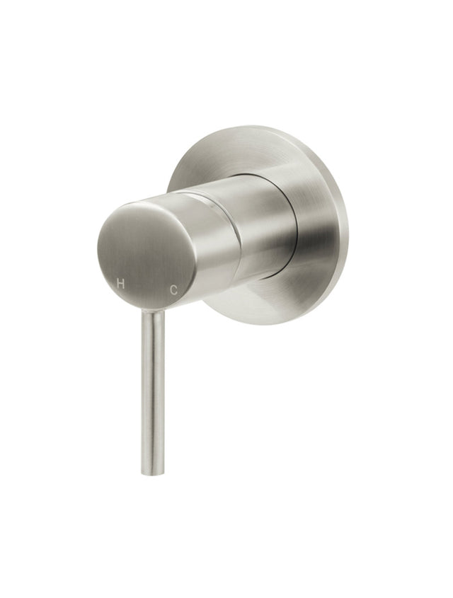 Round Wall Mixer - Brushed Nickel
