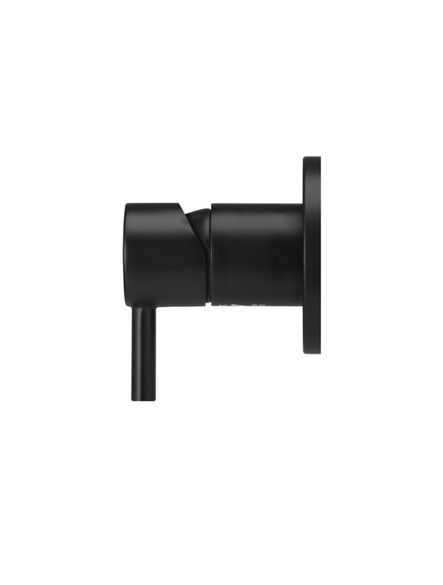Meir Round Wall Mixer short pin-lever - Matte Black (SKU: MW03S) Image - 2