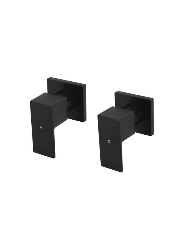 Meir Square Quarter-Turn Wall Taps - Matte Black