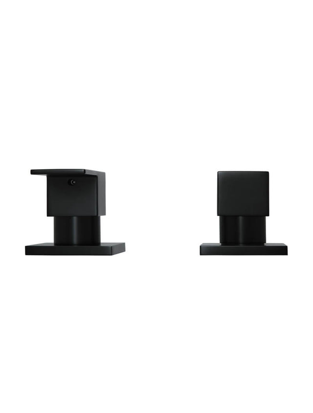 Meir Square Quarter-Turn Wall Top Assemblies - Matte Black (SKU: MW04) Image - 3