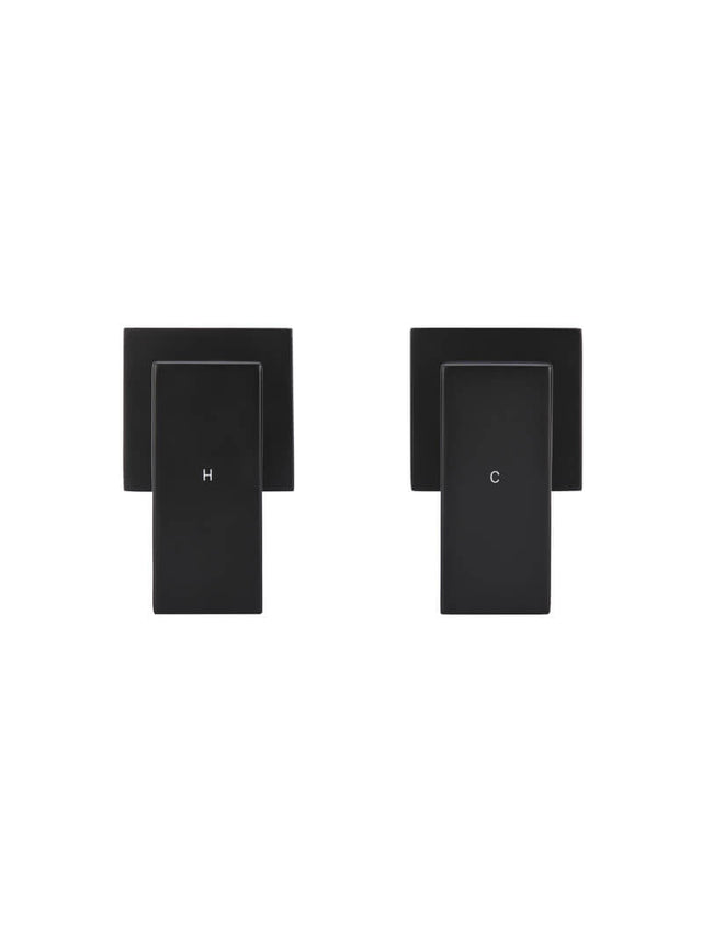 Meir Square Quarter-Turn Wall Top Assemblies - Matte Black (SKU: MW04) Image - 2