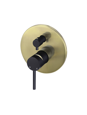 Round Diverter Mixer - Black & Gold