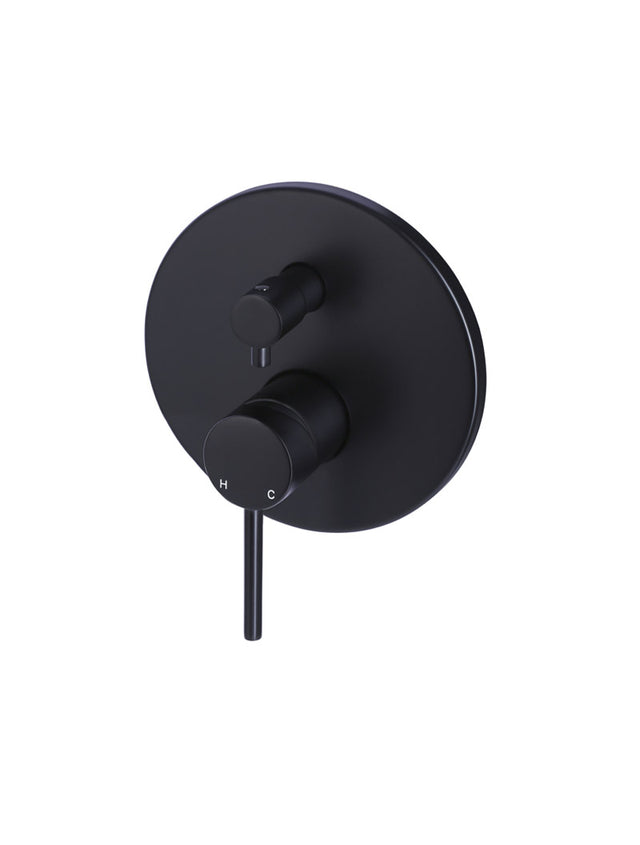Round Diverter Mixer - Matte Black