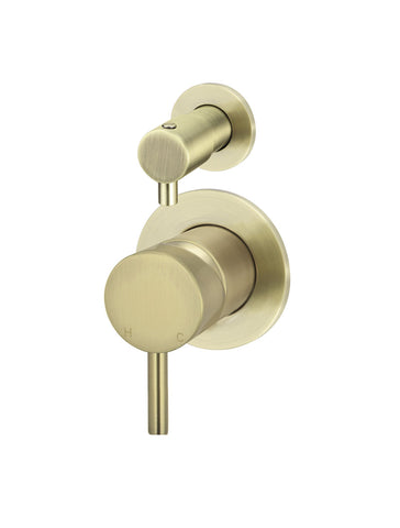 Round Diverter Mixer - Tiger Bronze Gold