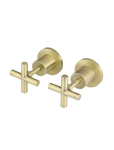 Meir Round Jumper Valve Wall Top Assembly - Tiger Bronze Gold