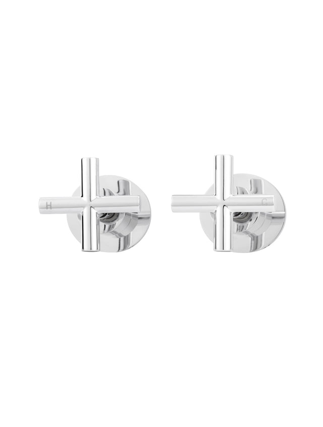 Round Jumper Valve Wall Top Assembly - Polished Chrome