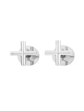 Round Cross Handle Jumper Valve Wall Top Assemblies - Polished Chrome - MW08JL-C