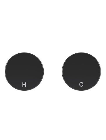 Circular Wall Taps - Matte Black