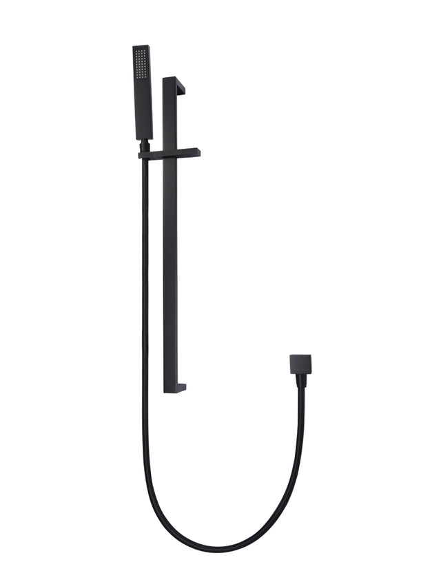 Meir Square Shower on Rail Column - Matte Black (SKU: MZ0401) Image - 1