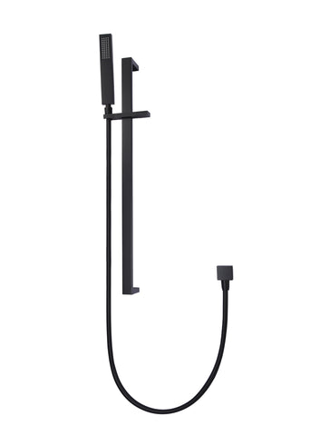Meir Square Hand-shower on Rail - Matte Black
