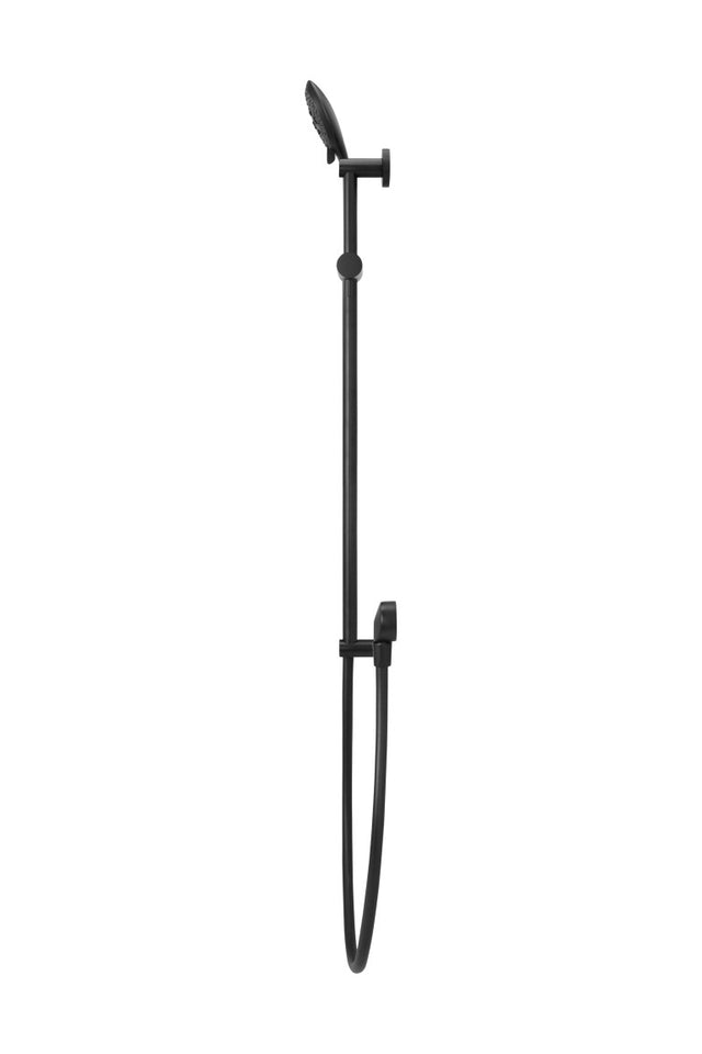 Meir Round Shower on Rail Column with Three Functions - Matte Black (SKU: MZ0402) Image - 3