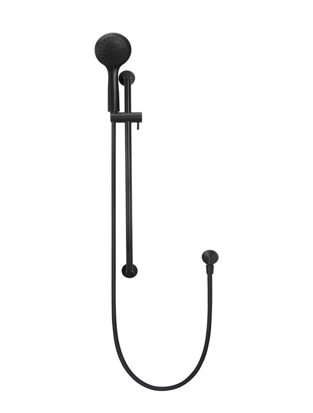 Meir Round Shower on Rail Column with Three Functions - Matte Black (SKU: MZ0402) Image - 2