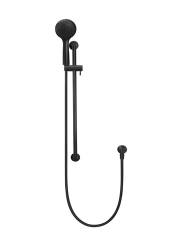 Meir Round 3-Function Hand-shower on Rail - Matte Black