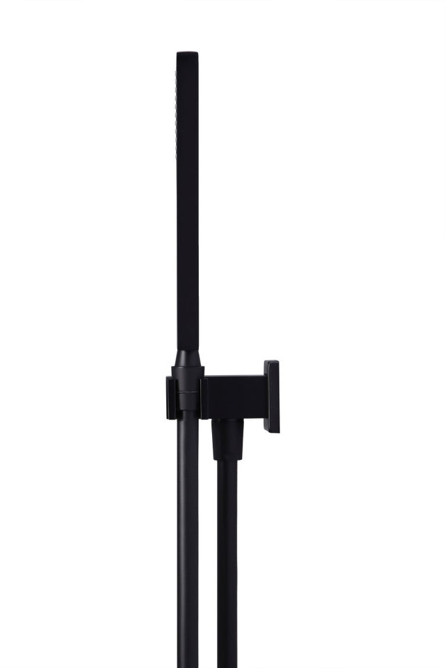 Meir Square Shower on Bracket - Matte Black (SKU: MZ05) Image - 3