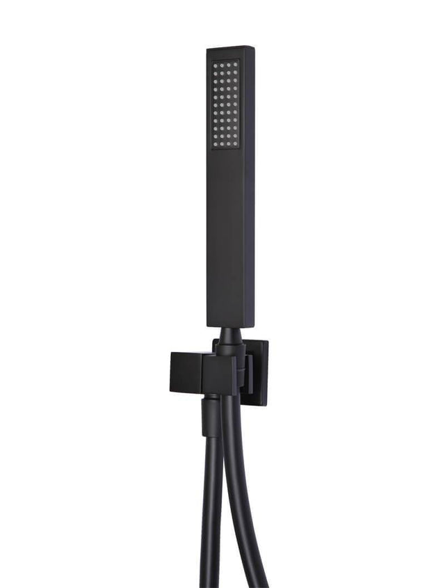 Meir Square Shower on Bracket - Matte Black (SKU: MZ05) Image - 1