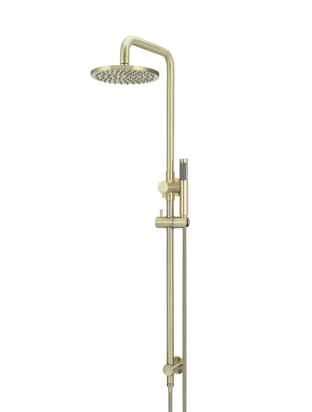 Meir Round Combination Shower Rail, 200mm Rose, Single Function Hand Shower - Tiger Bronze (SKU: MZ0704-R-BB) Image - 1