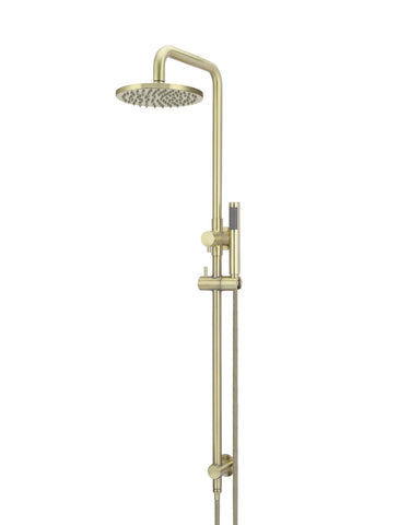 Round Combination Shower Rail, 200mm Rose, Single Function Hand Shower - Tiger Bronze