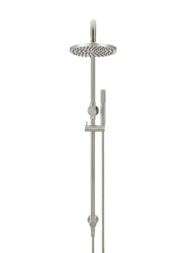 Meir Round Combination Shower Rail, 200mm Rose, Single Function Hand Shower - PVD Brushed Nickel (SKU: MZ0704-R-PVDBN) Image - 3