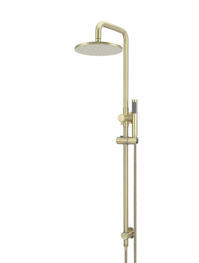Meir Round Combination Shower Rail, 250mm Rose, Single Function Hand Shower - Tiger Bronze (SKU: MZ0705-R-BB) Image - 1