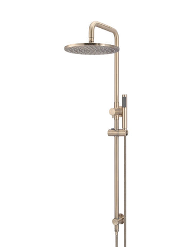 Round 2-in-1 Shower Rail Set 300mm Rose - Champagne