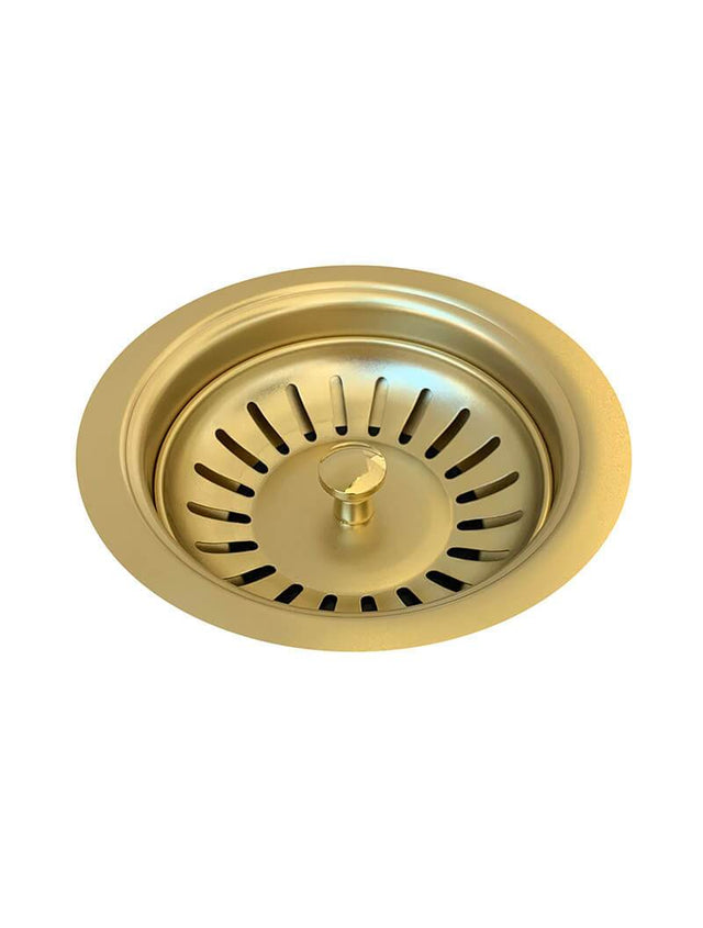Sink Strainer and Waste Plug Basket with Stopper - Brushed Bronze Gold PVD Finish