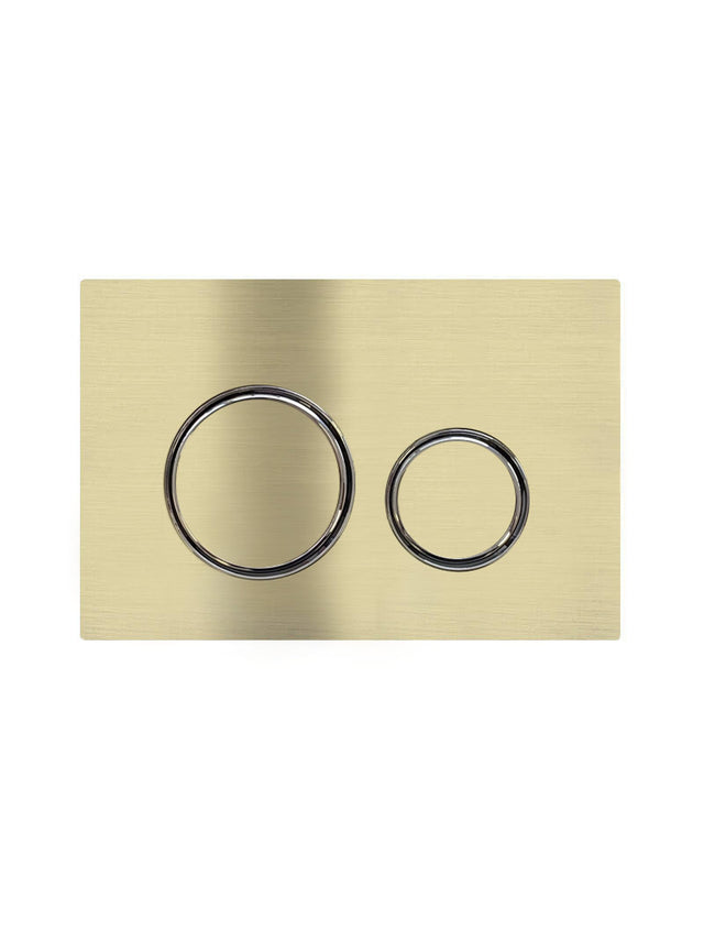 Meir Sigma 21 Dual Flush Plate by Geberit - Tiger Bronze (SKU: 115.884.00.1-BB) Image - 1