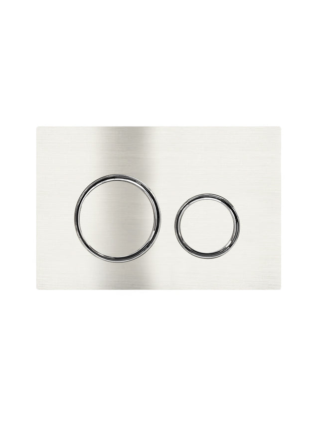 Meir Sigma 21 Dual Flush Plate by Geberit - PVD Brushed Nickel (SKU: 115.884.00.1-PVDBN) Image - 1