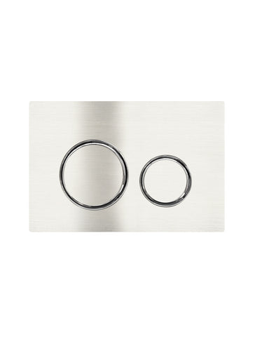Sigma 21 Dual Flush Plate by Geberit - Brushed Nickel