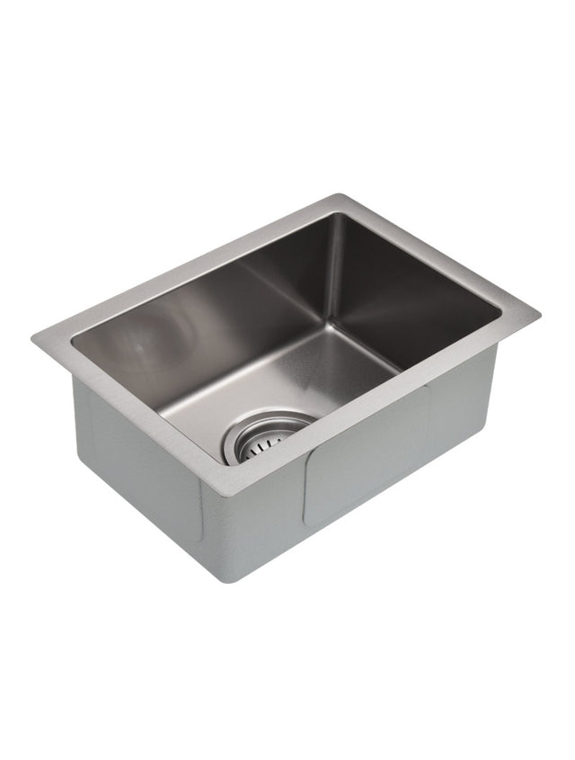 Meir Bar Sink - Single Bowl 382 x 272 - PVD - PVD Brushed Nickel (SKU: MKSP-S322222-NK) Image - 1