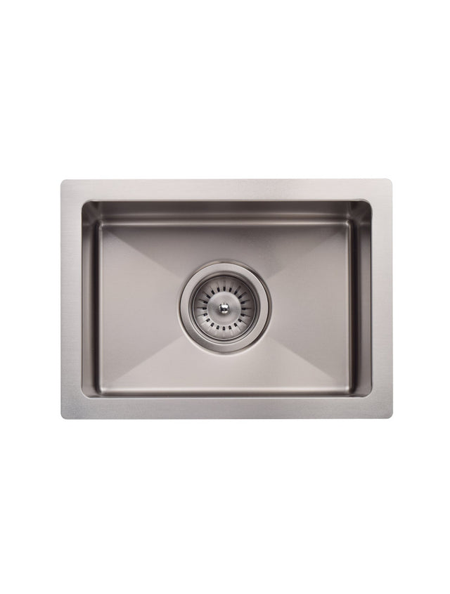 Meir Bar Sink - Single Bowl 382 x 272 - PVD - PVD Brushed Nickel (SKU: MKSP-S322222-NK) Image - 2