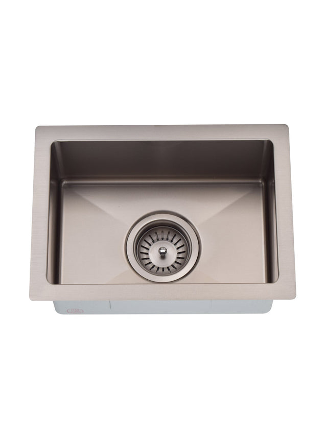 Meir Bar Sink - Single Bowl 382 x 272 - PVD - PVD Brushed Nickel (SKU: MKSP-S322222-NK) Image - 3