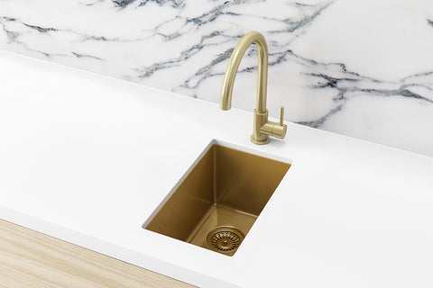 Bar Sink - Single Bowl 382 x 272 - Brushed Bronze Gold