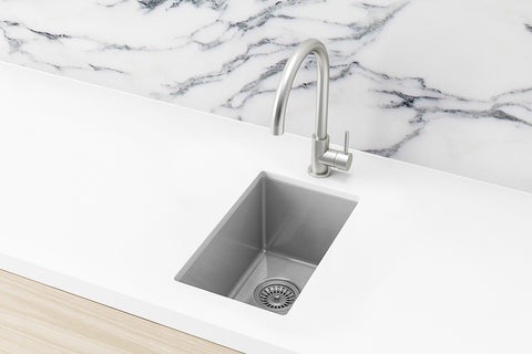Bar Sink - Single Bowl 382 x 272 - PVD Brushed Nickel