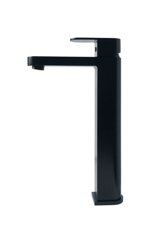 Zitto Tall Basin Mixer - Matte Black