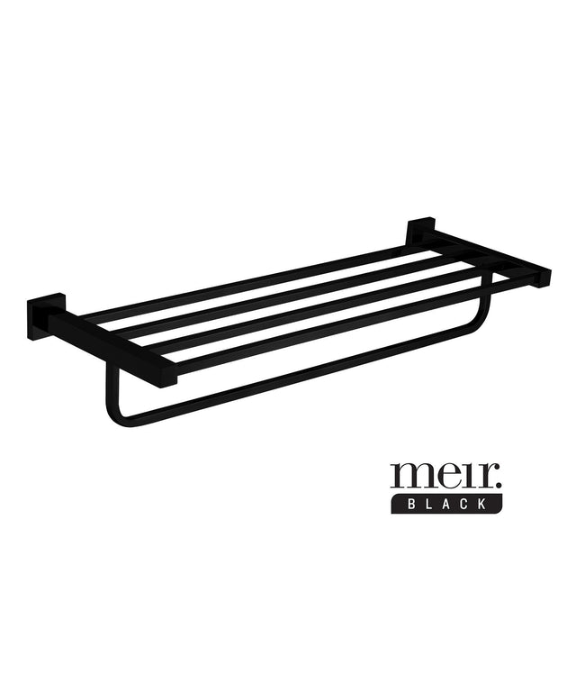 Square Towel Rack - Matte Black