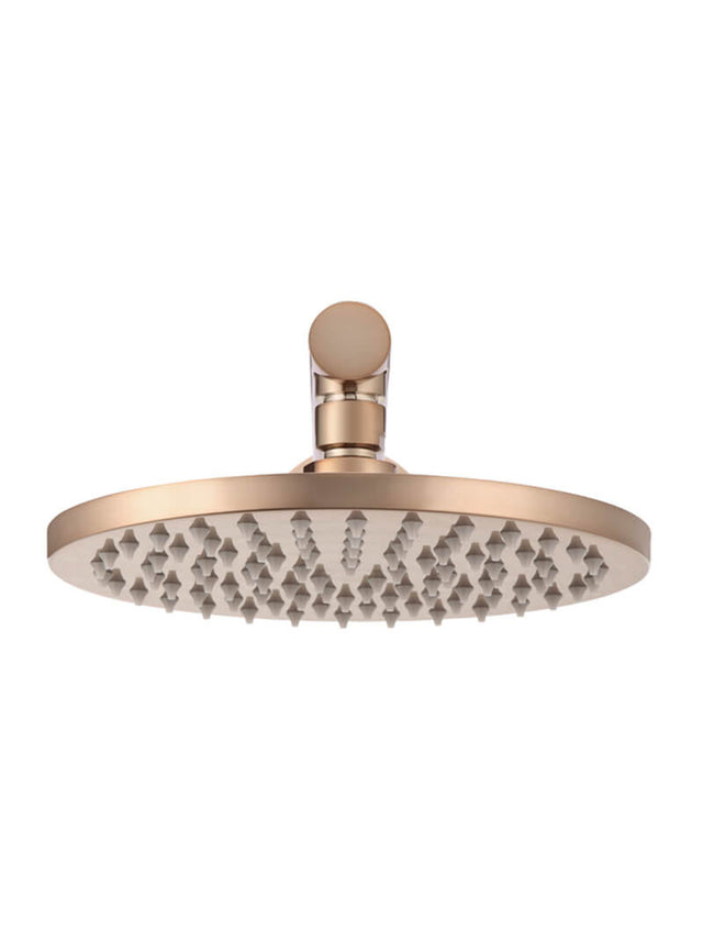 Meir Round Wall Shower, 200mm rose, 400mm arm - Champagne (SKU: MA0204-400-CH) Image - 2